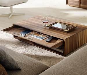 La table basse avec tiroir - un meuble pratique et déco