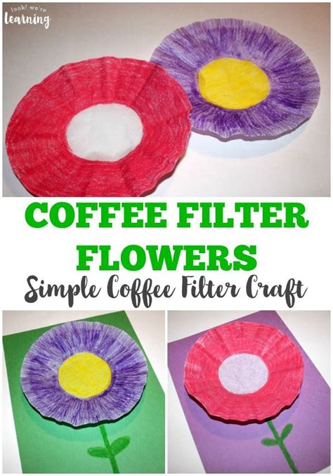 coffee filter flowers preschool easy coffee filter flower craft garden amp flower 984