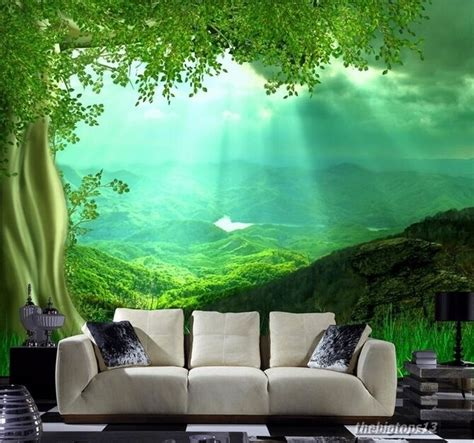 3d Wallpaper For Wall by 3d Wallpaper Bedroom Mural Roll Nature Scenery Forest