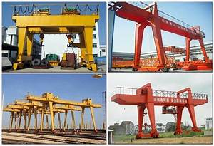 Double Girder Gantry Crane With Heavy Duty Open Winch