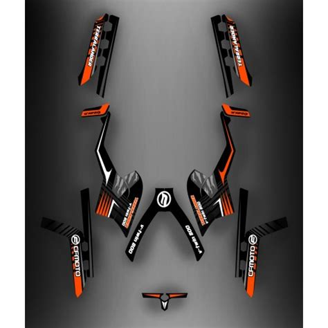 kit deco pour kit deco ltd orange cf moto cforce 800 idgrafix