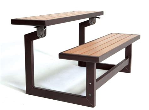 lifetime 60054 convertible bench table faux wood
