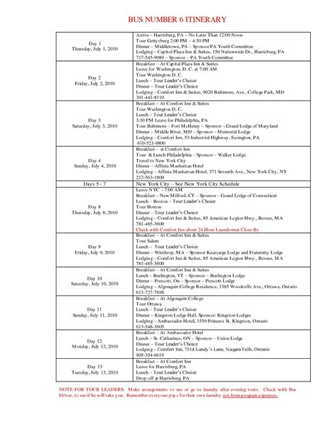 itinerary template word microsoft travel itinerary template calendar templates