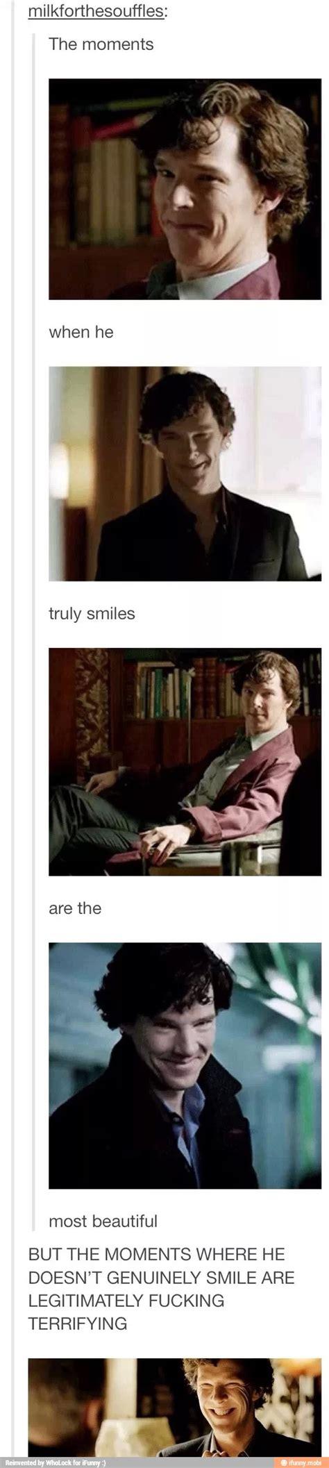 sherlock bbc smiling benedict cumberbatch holmes smile fandom