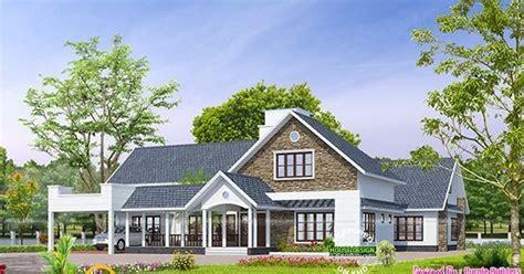 Kerala bungalow design - Kerala home design and floor plans