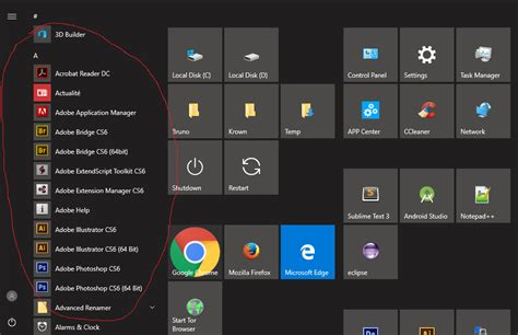 remove  customize   apps  start menu  windows     update