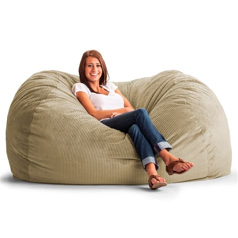 corduroy bean bag chair canada fuf 6 ft xl wide wale corduroy bean bag sofa bean bags