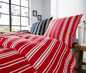Bettwäsche Rot Weiß : jersey bettw sche rot wei gestreift online bestellen bei tchibo 309832 ~ Yasmunasinghe.com Haus und Dekorationen