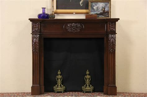 Sold Fireplace Vintage Mantel Surround Hand Carved