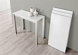Petite Table Extensible : table console extensible le monde du convertible ~ Teatrodelosmanantiales.com Idées de Décoration