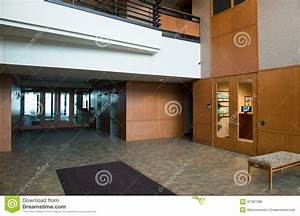 Modern Commercial Office Building Lobby Stock Photo ...