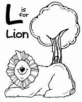 Coloring Pages Zoo Animal Lion Letter Printable Alphabet Edited Single sketch template