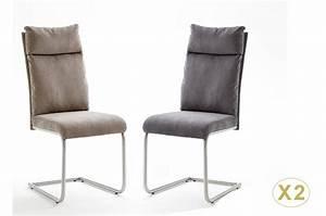 Chaise Tissu Design : chaises design tissu et acier cbc meubles ~ Teatrodelosmanantiales.com Idées de Décoration