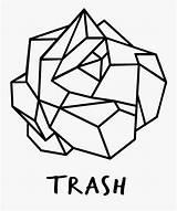Crumpled Paper Originating Bold Geometric Coloring Clipartkey sketch template
