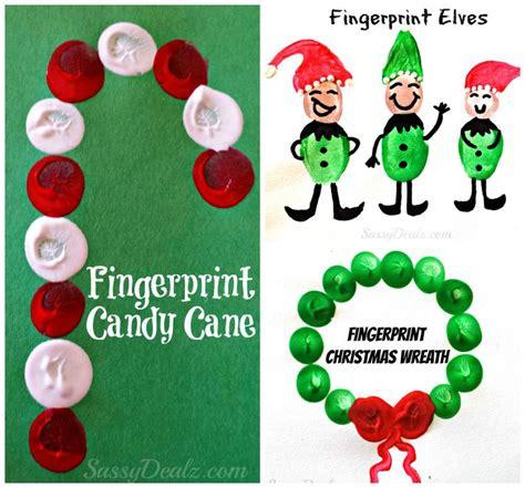 christmas winter fingerprint craft ideas for kids