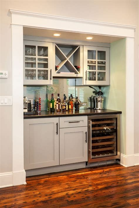 Bar Built In by Renewal Design Build Kitchen Basement Kitchenette