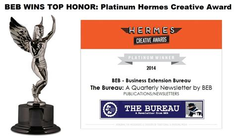 hermes bureau beb takes highest honor bebtexas