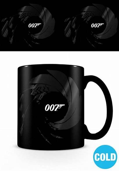Bond James Gunbarrel Mug Heat Change Hole