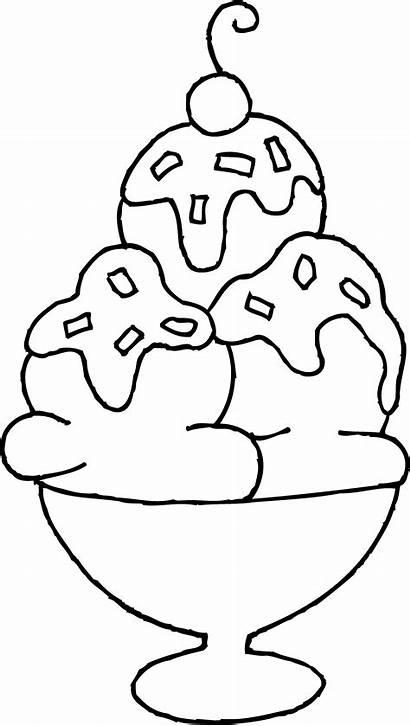 Ice Cream Coloring Sundae Clip Clipart Wendy