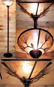 Bronze rustic torchiere lamp mica shade lamp shade pro for Mica torchiere floor lamp