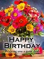 Magnificent Flower Happy Birthday Card | Birthday ...