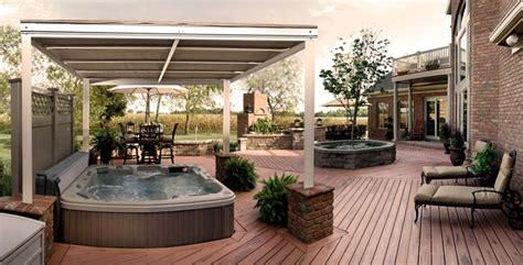 Retractable Canopy Over Hot Tub