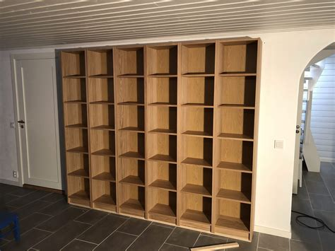 40 Cm Wide Bookcase by Ikea Bookcases Framed For The Basement Ikea Hackers