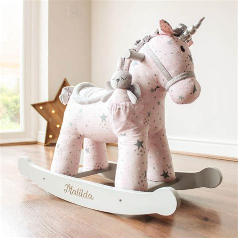 celeste fae personalised rocking unicorn horse love