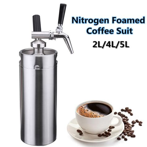 While many of its features are automated for ease of use, all it takes is the press of a button to fix it to your needs. Nitro Cold Brew Coffee Maker Mini Stainless Steel Keg Home ...