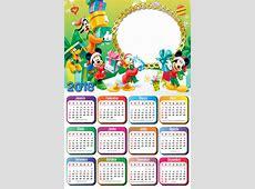 Moldura de Calendário 2018 Natal do Mickey Imagem Legal