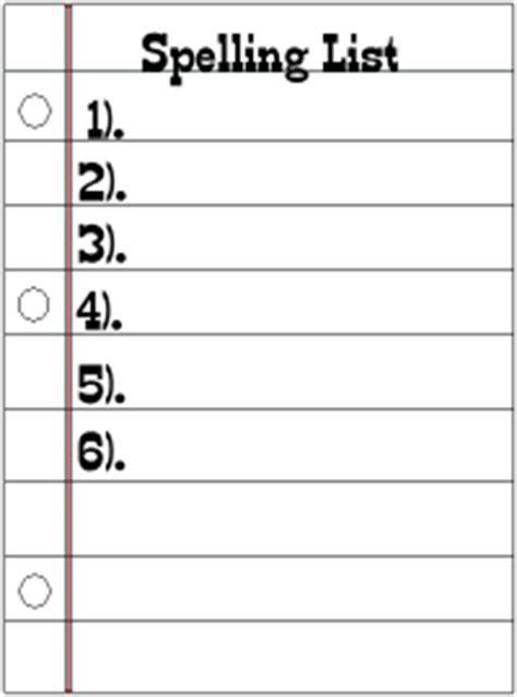 spelling lists ms kusel  grade  teacher