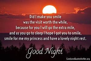 Night Love Poem Good Quotes Word