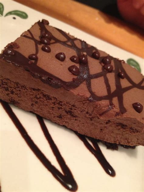 olive garden chocolate mousse cake chocolate mousse cake rich yelp