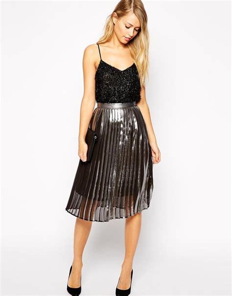 17 Best Ideas About Metallic Skirt On Pinterest Pleated