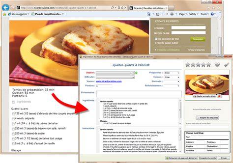 le collectionneur de recettes logiciel de recettes et