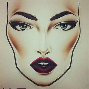 Milk1422 Face Charts Blank Caricatura Face Charts Mac Idée Maquillage Et Maquillage