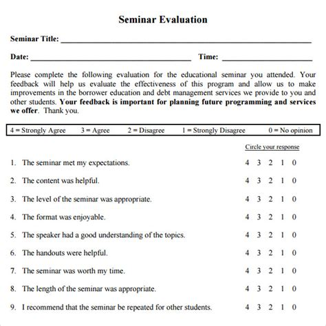 feedback template 11 sle workshop evaluation forms to sle templates