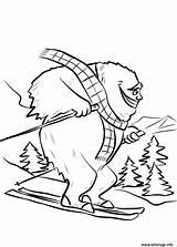 Yeti Coloring Ski Bigfoot Dessin Coloriage Fait Printable Slope Sheet Colouring Dzieci Dla Rysunek Obraz Kolorowanka Imprime Fois Gratuit Imprimer sketch template