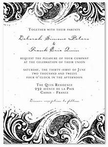 french swirls wedding invitations le cabanon by With example of wedding invitation in french
