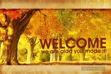 autumn woods announcement background  church