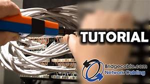 How To Punch Down Cat6 Network Cabling Into A Patch Panel