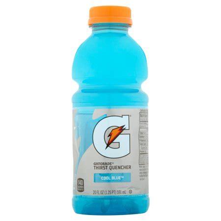 light blue gatorade gatorade thirst quencher sports drink cool blue 20 fl oz