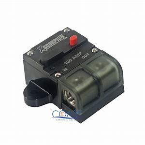 Car Stereo 12v 100 Amps Power Circuit Breaker W  Manual