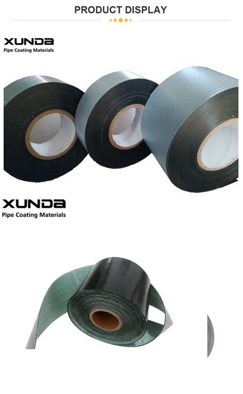 good peel strength pipeline joint wrap tape rubber adhesive   overlap