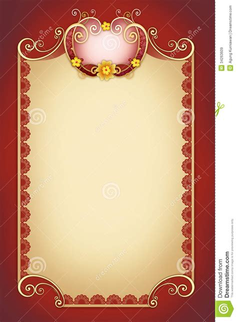ornamental swirl  greeting card stock illustration