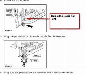 Please Explain In Detail How To Remove And Replace The Lower Ball Joint