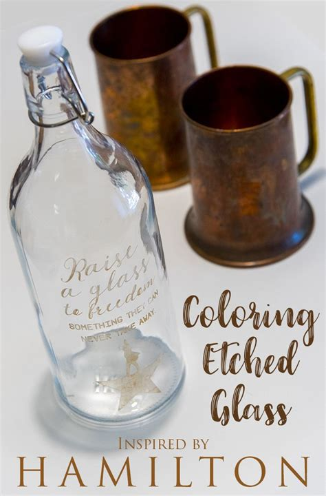 etched silhouette glass coloring tutorial etching diy cameo projects stencils engraving designs morethanthursdays cricut buff rub metal thursdays than adding