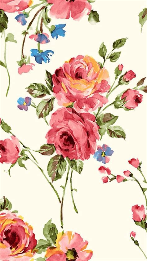 iphone background flowers vintage painting flowers wallpaper free iphone wallpapers