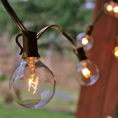 25 ft clear globe g40 string lights set with 25 g40 bulbs