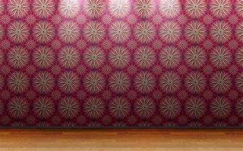 floor  view wall room patterns wallpaper